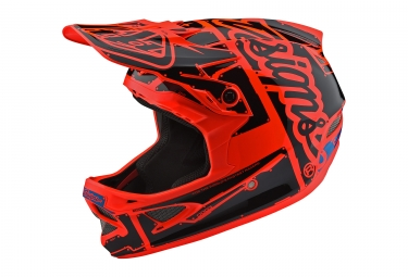 Casque troy lee designs d3 fiberlite factory orange m 56 57 cm
