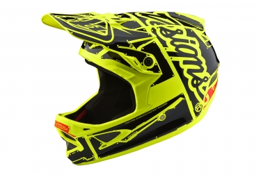 Casque troy lee designs d3 fiberlite factory jaune fluo xl 60 61 cm