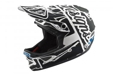 Troy Lee Designs D3 Fiberlite Factory Helmet White Grey