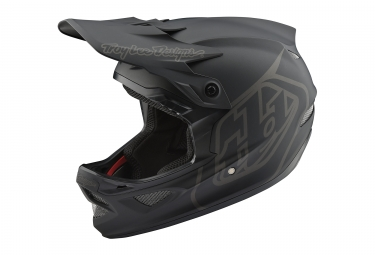 Troy Lee Designs D3 Fiberlite Mono Full Face Helmet Black 2018