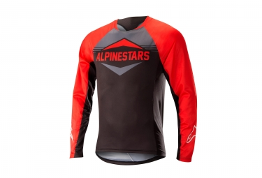 Alpinestars maillot mesa manches longues rouge gris xl