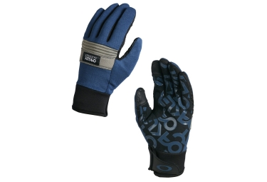 Gants longs oakley factory spring bleu xl