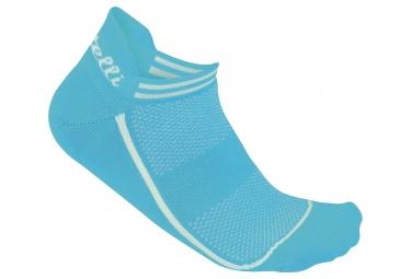 Paire de chaussettes femme castelli 2018 invisible bleu 36 38