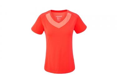 Lafuma femme track t shirt poppy orange rouge s