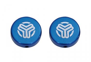 embouts de guidon pour poignees sb3 bleu