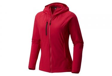 Veste femme mountain hardwear super chockston rouge m