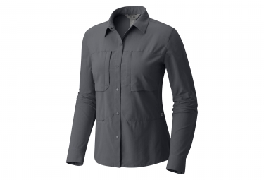 Camisa Mountain Hardwear Canyon Proong Graphite Mujer Gris