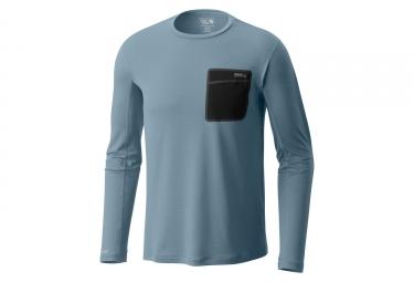 T shirt manches longues mountain hardwear metonicong bleu xl