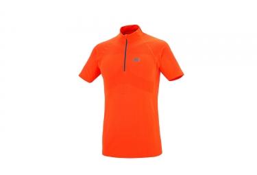 Millet Ltk Seamless Sleeves Zip Short Sleeves Orange