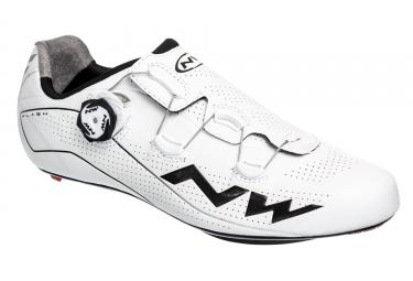 Paire de chaussures route northwave flash blanc noir 44