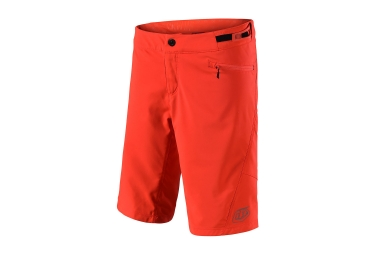 Short femme troy lee designs skyline solid orange l