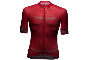 campagnolo maillot manches courtes platino coral red xl