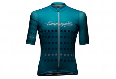 campagnolo maillot manches courtes iridio light blue s