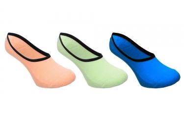x3 paires de chaussettes vans super no show bleu orange vert 38 5 42