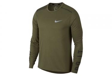 Maillot Manches Longues Nike Tailwind Kaki