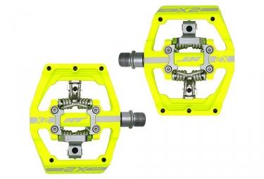 Paire de pedales automatiques ht x2 sx jaune fluo