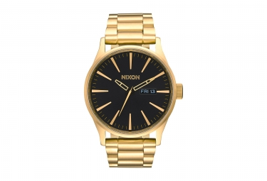 Nixon Sentry SS Watch Gold Black