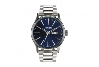 Nixon Sentry SS Watch Silver Blue