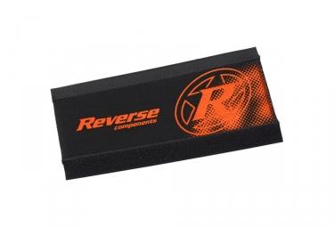 Reverse Chainstay Protector Neopreno Negro   Naranja