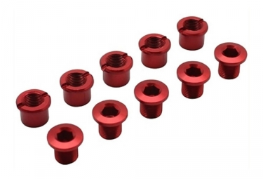 Forward Alu 8.5mm x5 Chainring Bolts Red