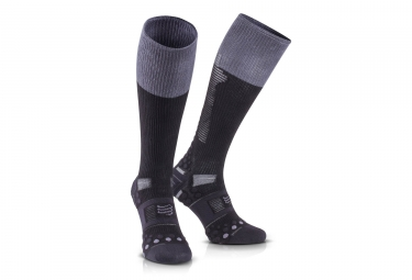 chaussettes de recuperation compressport detox recovery ironman 2017 noir t1