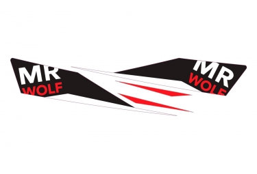 MR WOLF Stickers Recchie Pro Red/Black
