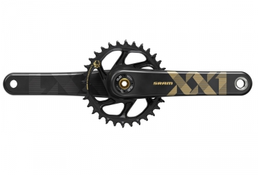 pedalier sram xx1 eagle dub plateau direct mount 34 dents sans boitier gold 175