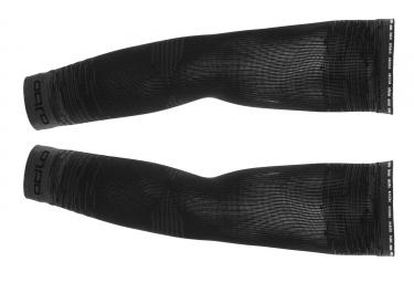 Odlo Ceramicool UVP Arm Warmers Black Grey