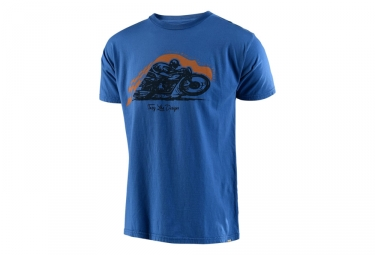 t shirt troy lee designs steady roller bleu l