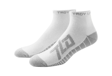 chaussettes vtt troy lee designs factory quarter medium blanc 44 47