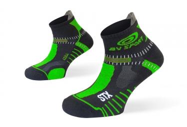 paire de chaussettes bv sport stx evo noir vert 36 38