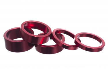Parts 8.3 Kit of Aluminium Spacers (x5) Red
