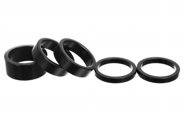 Parts 8.3 Kit of Aluminium Spacers (x5) Black