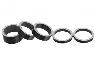 Parts 8.3 Kit of Carbon Spacers (x5) Black