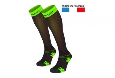 Paire de Chaussettes XLR Evo Noir Vert