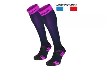 paire de chaussettes xlr evo bleu rose m