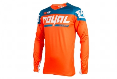 Maillot manches longues royal victory race orange bleu s