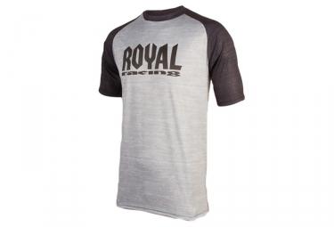 Maillot manches courtes royal heritage noir gris m