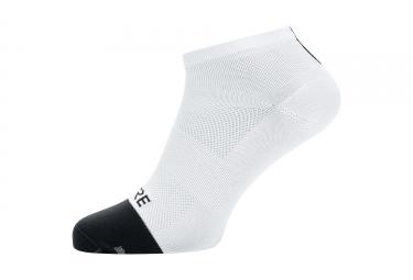 Paire de chaussettes gore wear light blanc noir 41 43