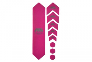 Kit protection de cadre all mountain style honeycomb 9 pcs magenta