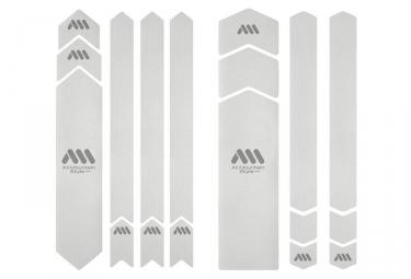 Kit Protection de Cadre All Mountain Style Honeycomb XXL 18 pcs - Transparent