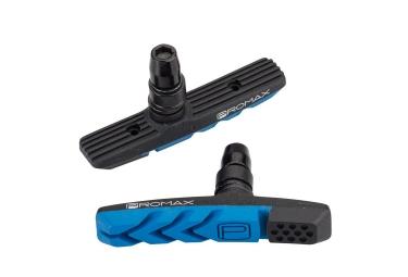 x2 patins de freins promax b 3 bleu