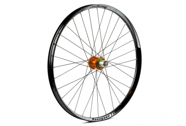 Roue arriere hope tech 35w pro 4 27 5 9x135 12x142mm corps shimano sram orange
