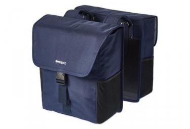 sacoche double de porte bagage basil go bleu