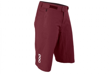 Short femme poc resistance enduro light propylene rouge m
