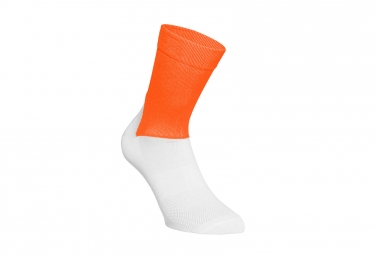 paire de chaussettes poc essential road orange blanc 37 39