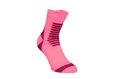 Paire de chaussettes poc essential mtb strong sock rose 37 39