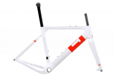 Kit Cadre Gravel Bike 3T Exploro Team Blanc Rouge