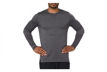 Maillot manches longues asics seamless gris l