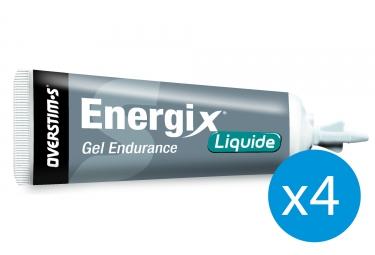 Pack 3+1 Offert Gel Énergétique Overstims Energix Liquide Fraise Banane